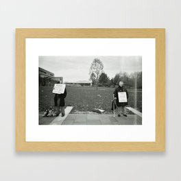 WITH ME AND YOU Framed Art Print