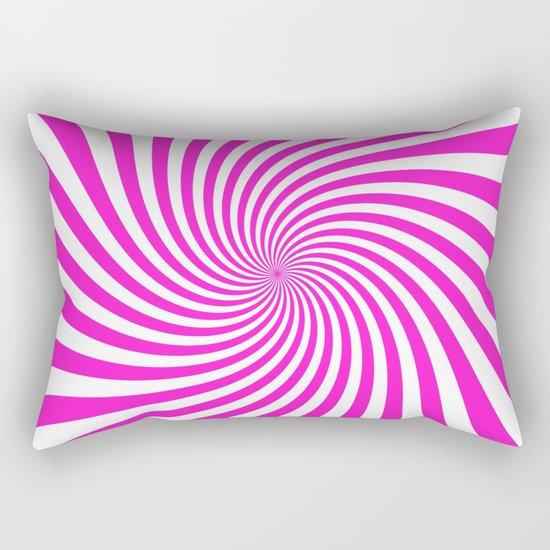 Swirl (Hot Magenta/White) Rectangular Pillow