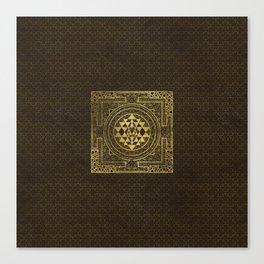 Gold Sri Yantra  / Sri Chakra Canvas Print