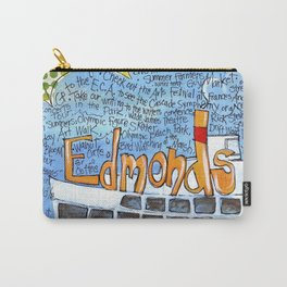 EDMONDS, WASHINGTON the town and the adventures by Seattle Artist Mary Klump Carry-All Pouch