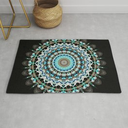 Mandala antique jewelry Rug