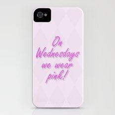 On Wednesdays We Wear Pink Slim Case iPhone (4, 4s)