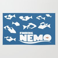 finding nemo Area & Throw Rugs featuring Finding Nemo by Citron Vert