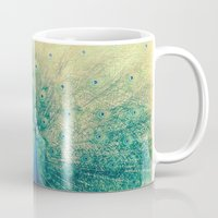 peacock Mugs featuring Peacock  by Graphic Tabby