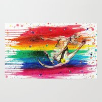 sphynx Area & Throw Rugs featuring Unicorn Sphynx by Psyca