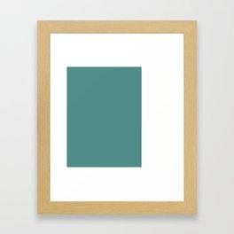Teal Stripe (2) Framed Art Print