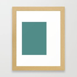 Teal Stripe (2) Framed Art Print