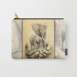 Refuge Elephants Drawing Carry-All Pouch
