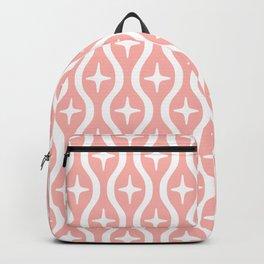 Mid century Modern Bulbous Star Pattern Peach Backpack