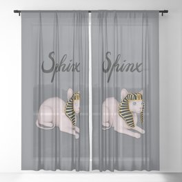 Sphinx (Gray) Sheer Curtain