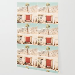 Red Door Palm Springs Photography Print Wallpaper