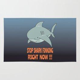 Stop shark finning Rug