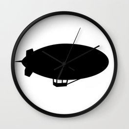 Blimp Silhouette Wall Clock