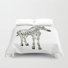 Zebra Watercolor Baby Animals Duvet Cover