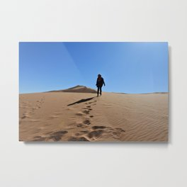 Lost in sahara Metal Print