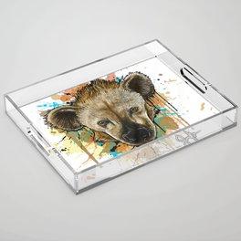 Spotted Hyena Acrylic Tray