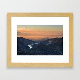 """Canales lake"" Framed Art Print"