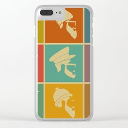 colorful Icons man in a headdress hat Clear iPhone Case