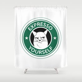 Expresso yourself Shower Curtain
