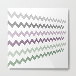 Pastel Sawtooth Metal Print