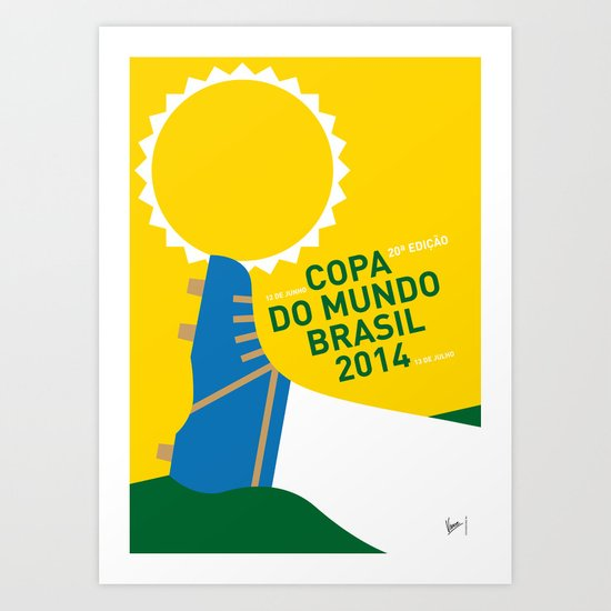 MY 2014 WORLD CUP SOCCER BRAZIL - RIO MINIMAL POSTER Art Print