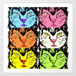 colorful cats  Art Print