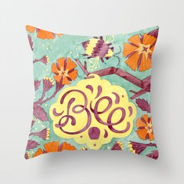Persistence is Bee Throw Pillow