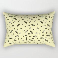 Retro Eighties Inspired Repated Pattern Design Rectangular Pillow