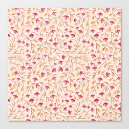 Botanical: Beige Vine Canvas Print