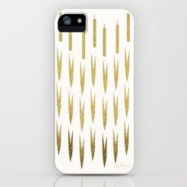Gold Cattails iPhone Case