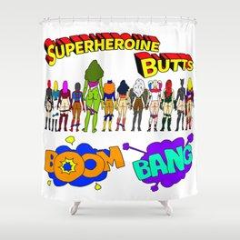 Superheroine Butts BOOM BANG Shower Curtain