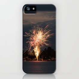 Fireworks Over Lake 31 iPhone Case