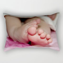 Delicate Baby's Foot Rectangular Pillow