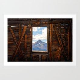 MT WILSON FRAMED - TELLURIDE COLORADO MOUNTAIN - LANDSCAPE NATURE PHOTOGRAPHY Art Print