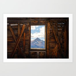 MT WILSON FRAMED - TELLURIDE COLORADO MOUNTAIN - LANDSCAPE NATURE PHOTOGRAPHY Art Print
