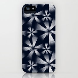 Fragmented Burst in B&W iPhone Case