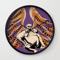 ape Wall Clocks featuring Ape by Miriam Kendrick