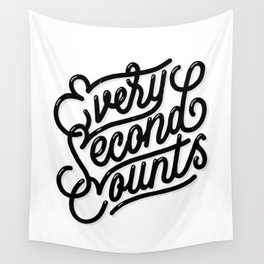Every Second Counts Wall Tapestry