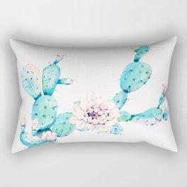 Desert Cactus Rose Rectangular Pillow