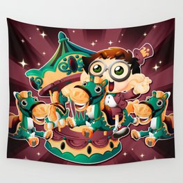 The carousel Wall Tapestry