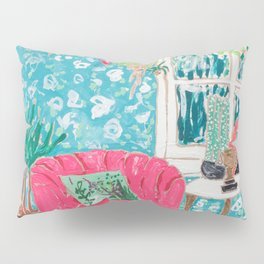 Pink Tub Chair Pillow Sham