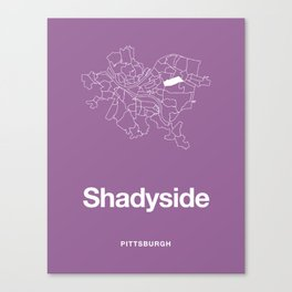 Pittsburgh Shadyside Canvas Print