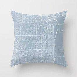 Scottsdale Map, USA - Slate Throw Pillow