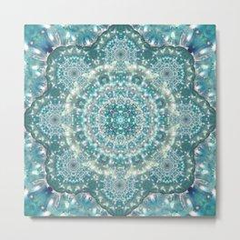 Sapphire Star Mandala Metal Print
