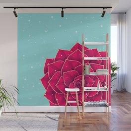 Big Holidays Christmas Red Echeveria Design Wall Mural