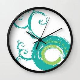 Girly Girl Parts Wall Clock