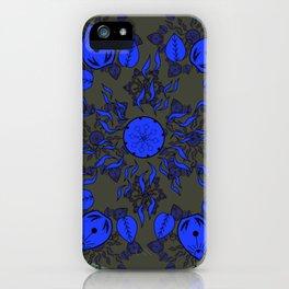 Goldenrod and Mauve Princess Patterned Mandala Textile iPhone Case