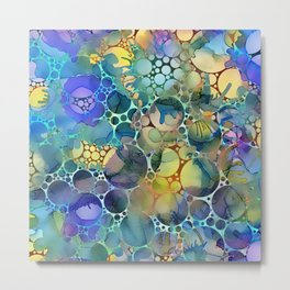 Dots on Painted Background 3 Metal Print