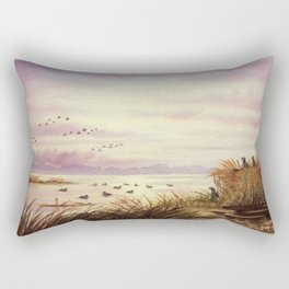 Duck Hunting Companions Rectangular Pillow