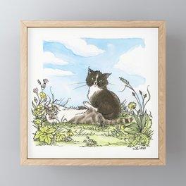 Molly & Wolfie Framed Mini Art Print